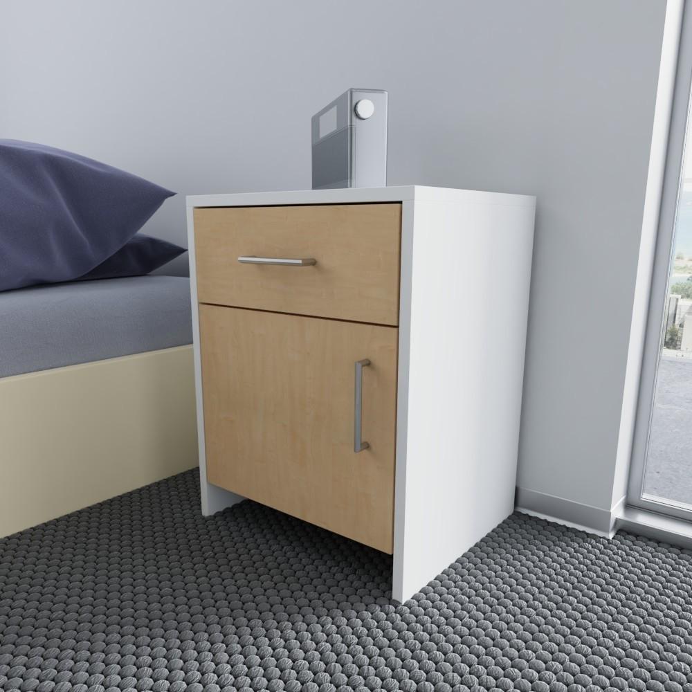 nachtschrank wei keno ma anfertigung planen. Black Bedroom Furniture Sets. Home Design Ideas