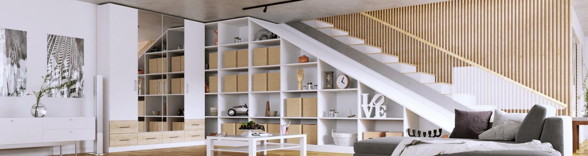 Wohnzimmer Schrank Regal Eck Maßgefertigt