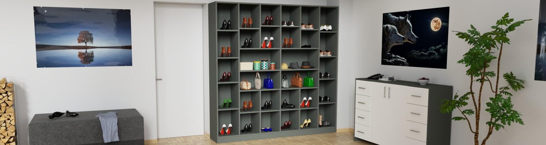 Schuhschrank nach Maß online konfigurieren | schrankplaner.de