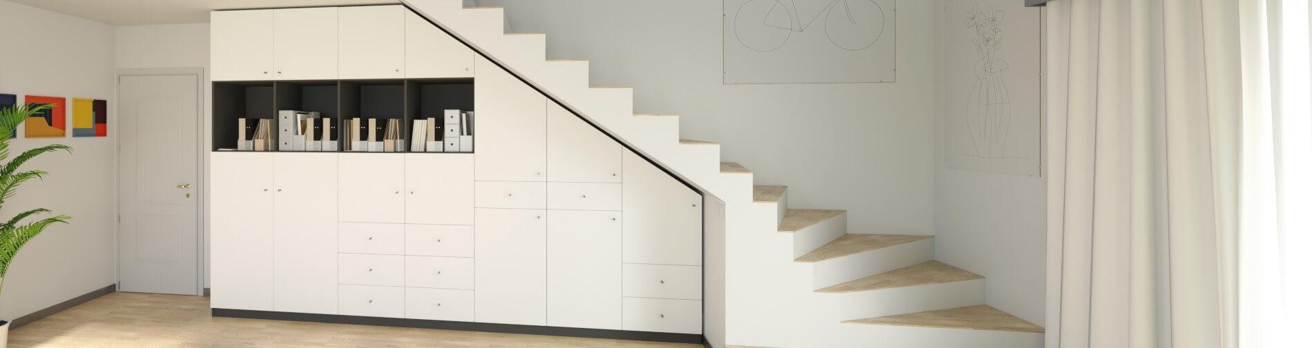 maßgefertigte möbel für unter die treppe jetzt online konfigurieren