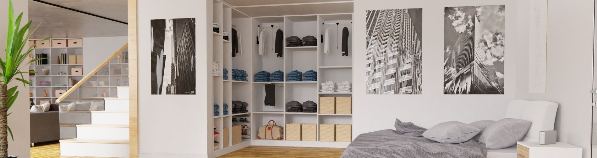 Maßgefertigten Schlafzimmerschrank konfigurieren ...