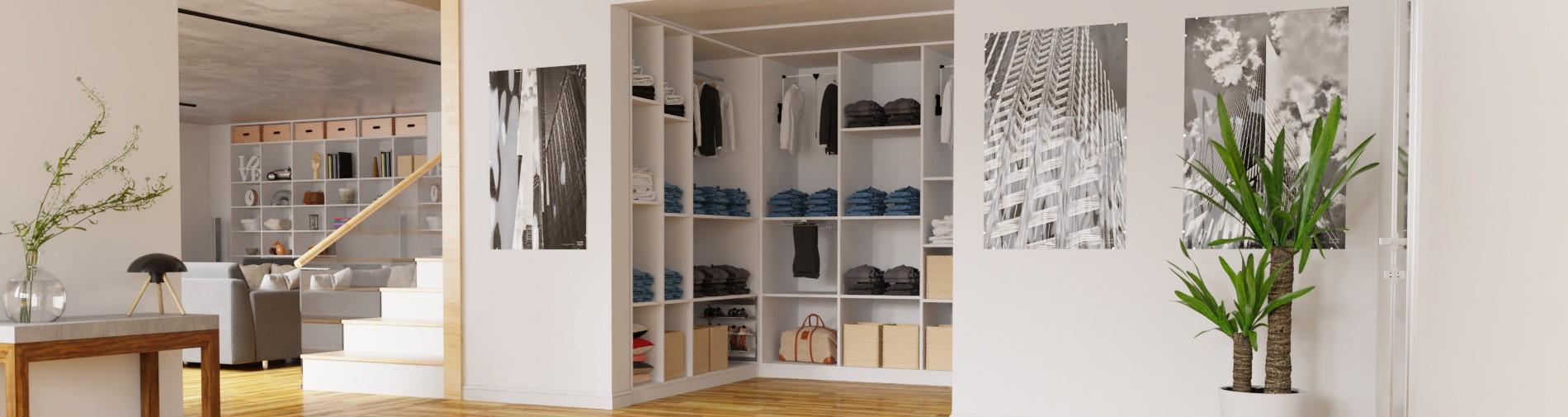 Begehbarer Kleiderschrank selber bauen | schrankplaner.de